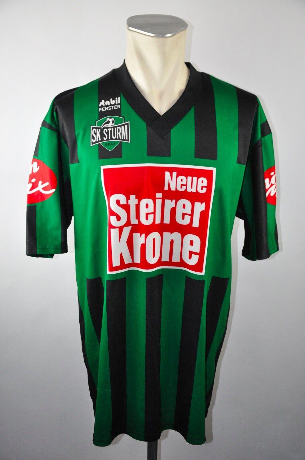 SK Sturm Graz Trikot 90er Gr. XL Neue Steirer Krone green Masita Stabil