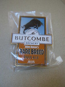 Butcombe-Rare-Breed-thick-plastic-pump-clip-badge-Brand-new-in-packet
