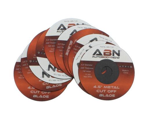 "10 Pack Type 1 ABN Metal Slicer Cut-off Wheel ⅞"" Bore 4.5"" Grinder Disc"