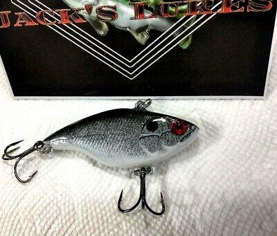 "Lipless Wobble Crank Bass Striper Pike Walleye Lure Crankbait Rattle head 3/"""