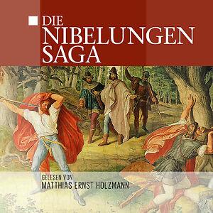 Audiolibro-CD-Die-Nibelungen-Saga-letto-von-Matthias-Ernst-Holzmann-2CDs