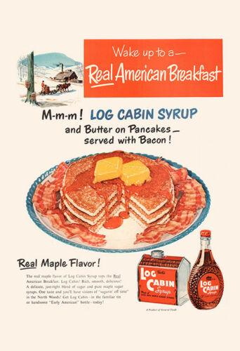 Retro Pancakes Ad Retro Restaurant Art Roadside Diner Ar RETRO BREAKFAST AD