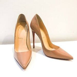 Christian-Louboutin-So-Kate-Red-Sole-Pump-Heels-Shoes-Size-37-5-US-7-5-Nude