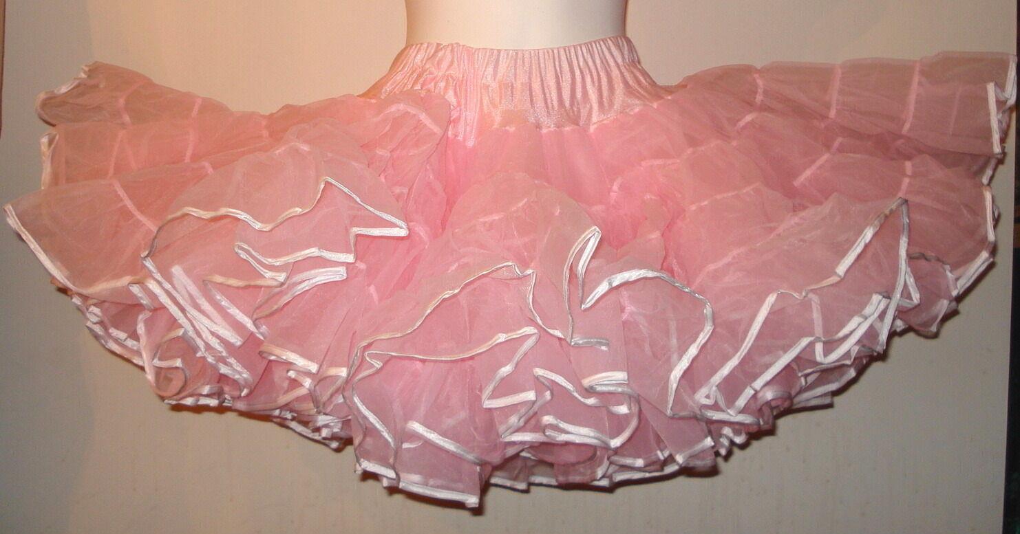 4 layer 100 yard organza petticoat usa made  various