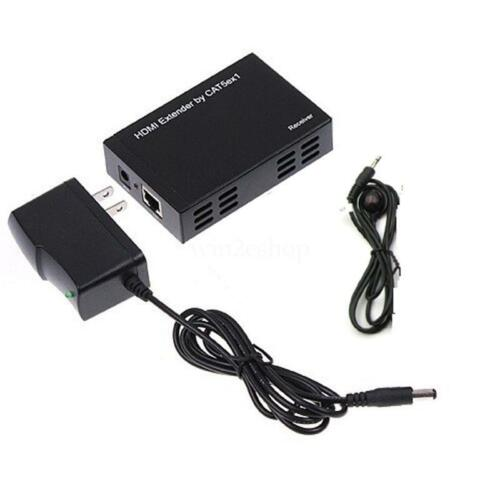 100M HDMI Extender Repeater Loop 1080P Over One Cat5e//6 TCP//IP Standard IR Pass