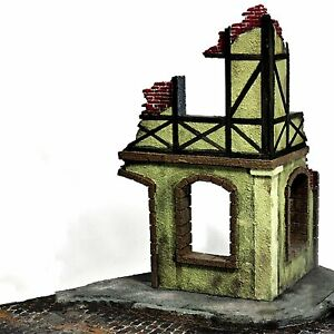1-35-Military-Diorama-Battle-Ruins-House-Sand-Table-Buildings-Wargame-Scenes-Kit
