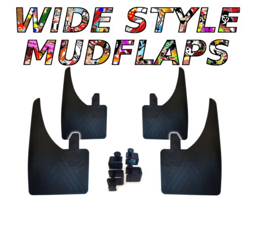4 X NEW QUALITY WIDE MUDFLAPS TO FIT  Renault Clio UNIVERSAL FIT