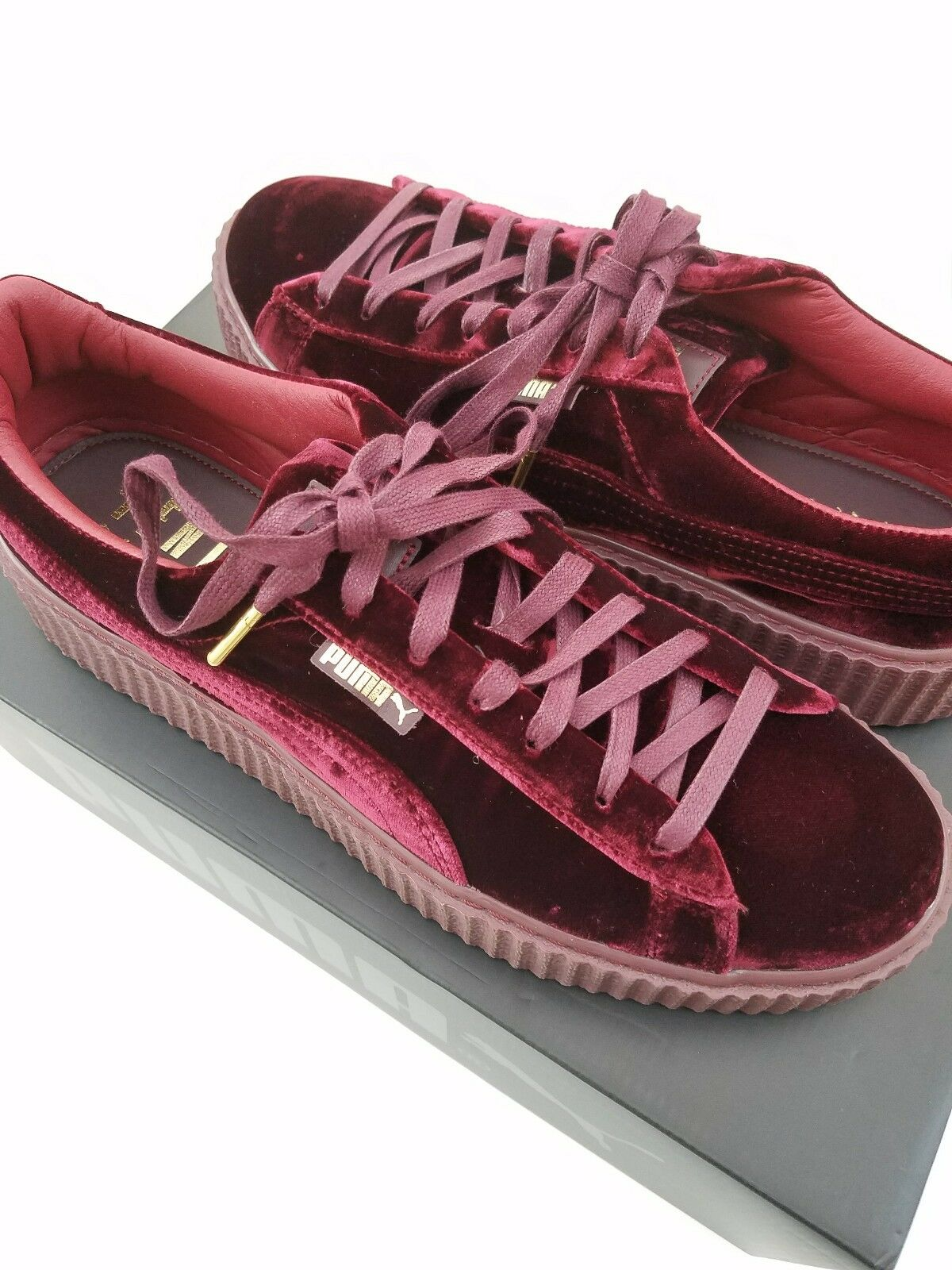 Puma FENTY by Rihanna Creepers shoes Velvet purple Royal Purple Mens 12