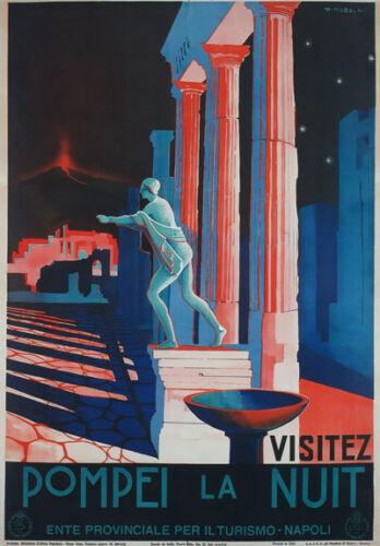 TV90 Vintage A4 POMPEI Naples Italy Italian Travel Tourism Poster Re-Print