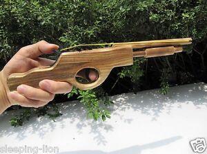Rubber-Band-Launcher-Shooting-Wooden-Pistol-Wood-Hand-Gun-Rifle-Wooden-gun