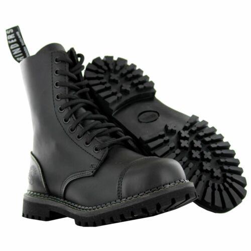 Uniform kvinners Lace Combat Up Lær Grinders New Stag Black Menns Boots Pwxd8qFg