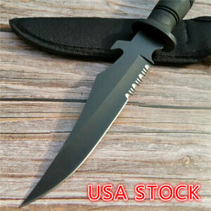 Army-Hunting-Knifes-Fixed-Blade-Camping-Survival-EDC-Tool-Tactical-Bowie-Rambo