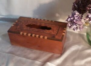 Antique-or-Vintage-Wooden-Box-with-Burr-Walnut