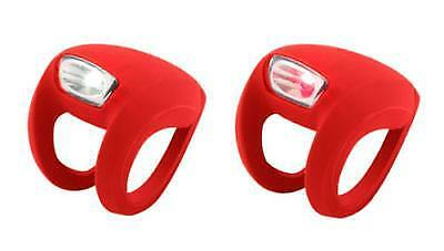 Twin Knog Frog Strobe Front Rear Bike Cycle Light Set