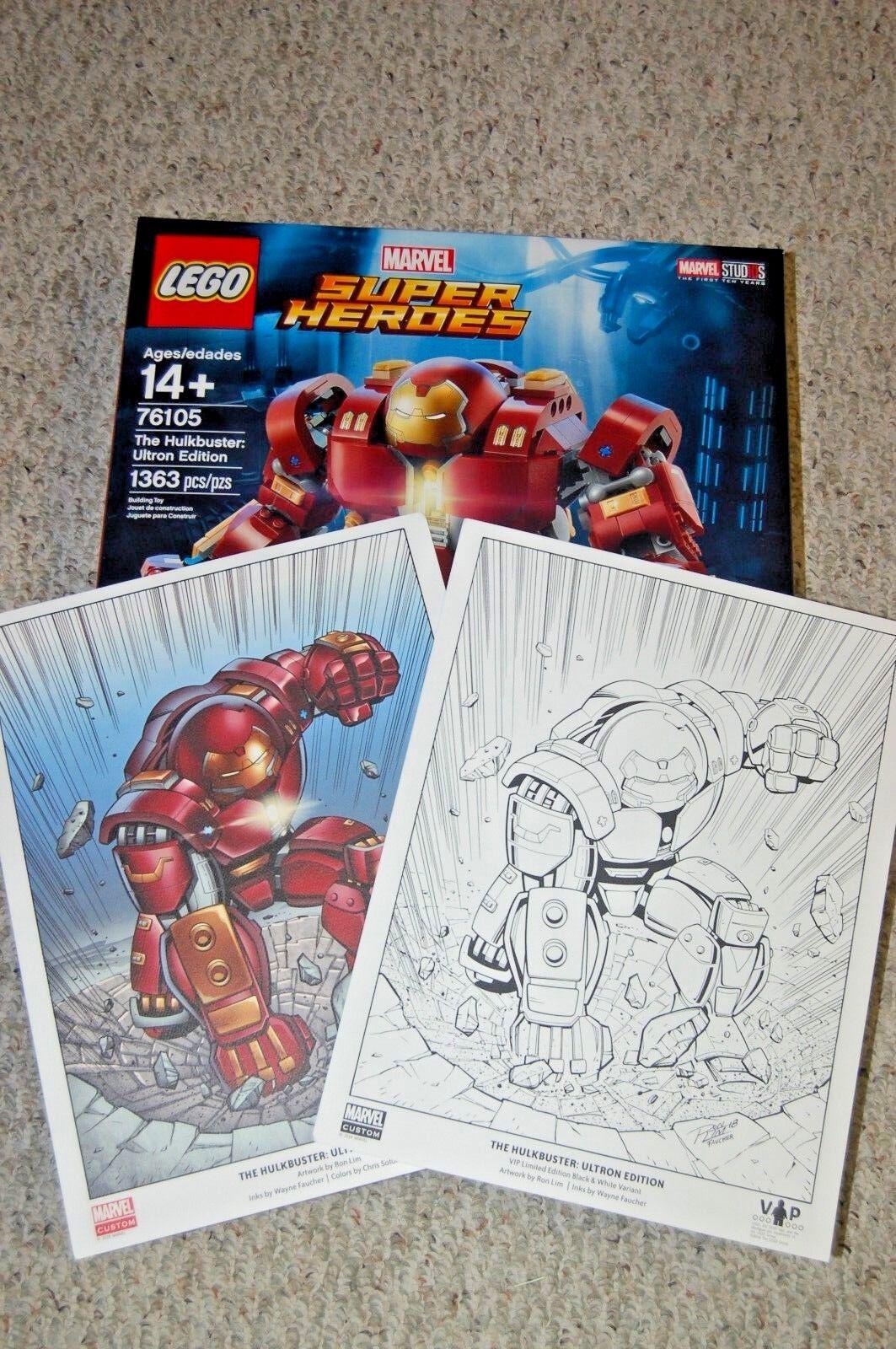 Lego Marvel Super Heroes Hulkbuster  Ultron Edition (76105) y blancoo y Negro Color impresiones