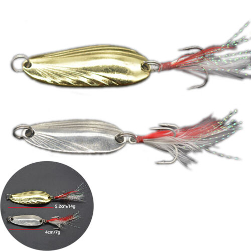 fishing spoon lure metal lure silver//gold 7g 14g spoon bait hard lure cheap LY