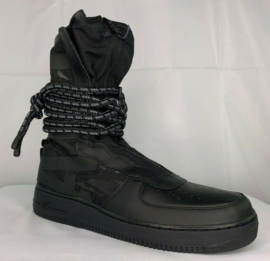 Nike SF AF1 Black Black Dark Grey Camo Boot Size US 9.5 AA1128 002
