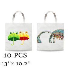 Plain White Blank Dye Sublimation Shopping Bag Small Carrier Bag Non Woven 10pcs