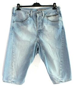 Levi-Strauss-amp-Co-Engineered-Jeans-Homme-Denim-Bleu-Shorts-Taille-L-W36-k2905