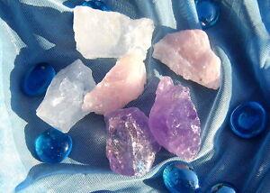ca-150g-Roh-Edel-Steine-Amethyst-Bergkristall-Rosenquarz-Wasser-Basis-Mischung