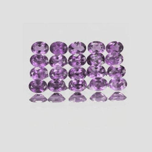4x3mm Lot 6,20pcs Oval Cut Violet AA Genuine Natural BRAZIL AMETHYST