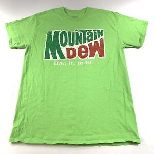 Mountain-Dew-Men-s-Graphic-Short-Sleeve-T-Shirt-Green-Size-Medium