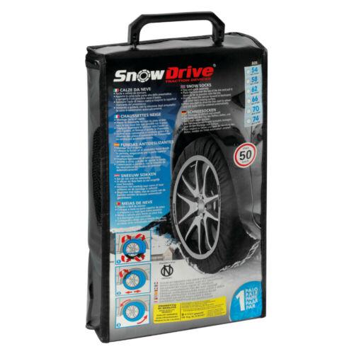 Coppia Calze da Neve Snowdrive Approvate Onorm Taglia SD66 per gomme 215//55R17