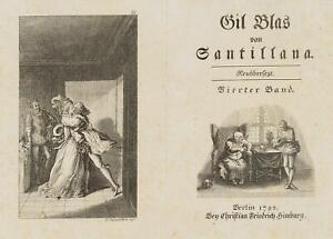 Chodowiecki (1726-1801). Gil Blas trova sua Laura & arcivescovo V. Granada 2