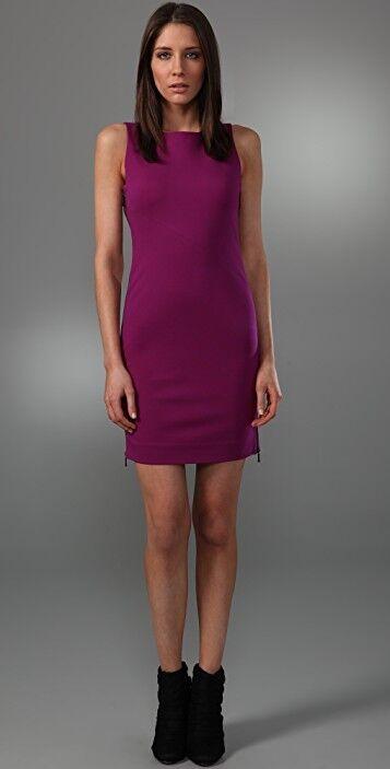 Diane von Furstenberg  USA 0    Leigh  Side Zip  Cherry Dream