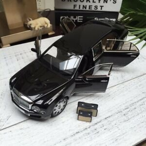 New-1-18-Almost-Real-Bentley-Mulsanne-Limousine-Open-amp-close-car-model-Black