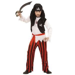 Pirat Kinder Kostüm Karneval Fasching Seeräuber Schwert Piratenkostüm Halloween