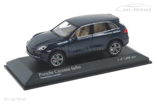 Porsche Cayenne Turbo blau met 958 2010 - Minichamps 1:43-400069270