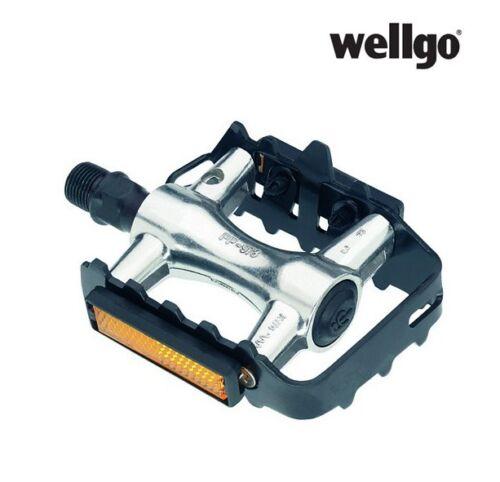 Fahrradpedale Wellgo MTB Alu mit Stahlkäfig Trekking Cross