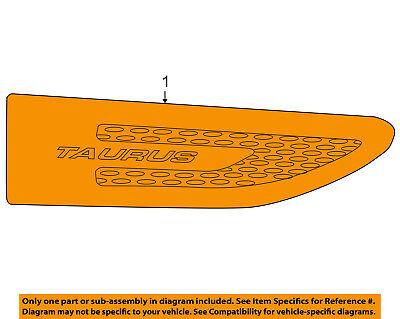FORD OEM 10-15 Taurus Front Fender-Emblem Badge Nameplate Right AG1Z16178A