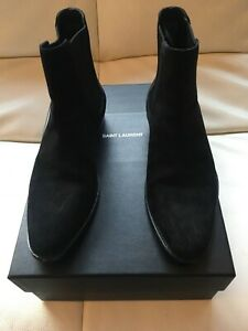 a29937b6f05 Details about Saint Laurent Wyatt Chelsea Boot Black Suede Men's Size 7  (Eur 40)