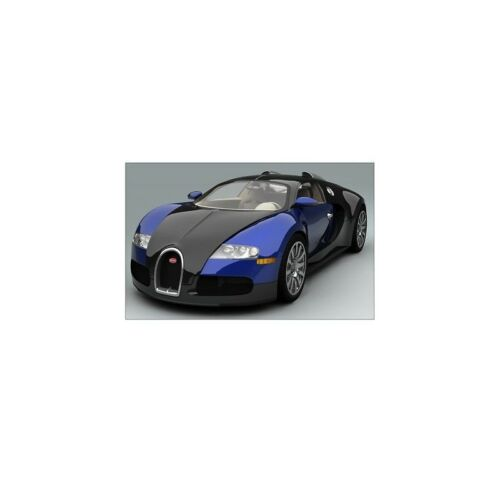 Sticker car sticker bugatti veyron sport blue 132x82 cm bugatti veyron b