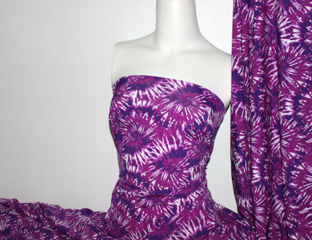 Tie dye Lycra/Spandex 4 way stretch Finish Fabric