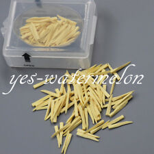 100 Pcs Dental Natural Interdental Composite Wooden Wedges Middle Size Yellow