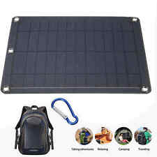 Portable 5V 5W Solar Panel Charger Pack Travel USB Power Bank for Mobile Phone