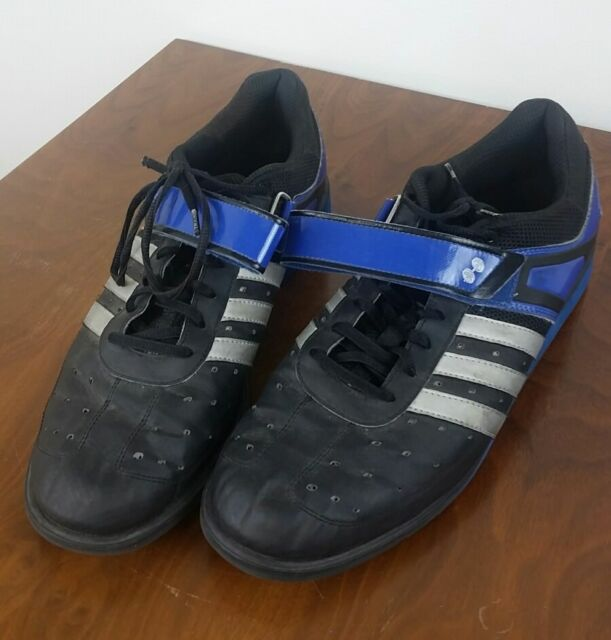 4afafcfb78ec Adidas Sz 14 Sport Weightlifting Power Lift Trainer Shoes Blue Black G45630