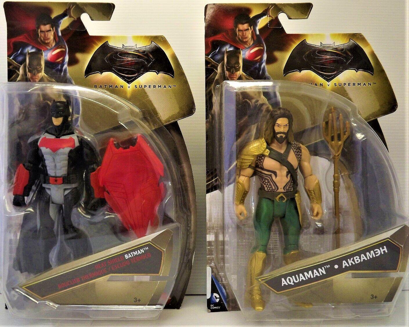 Set of 2 Figurines DC COMICS - BATMAN v SUPERMAN - AQUAMAN & batman NEW