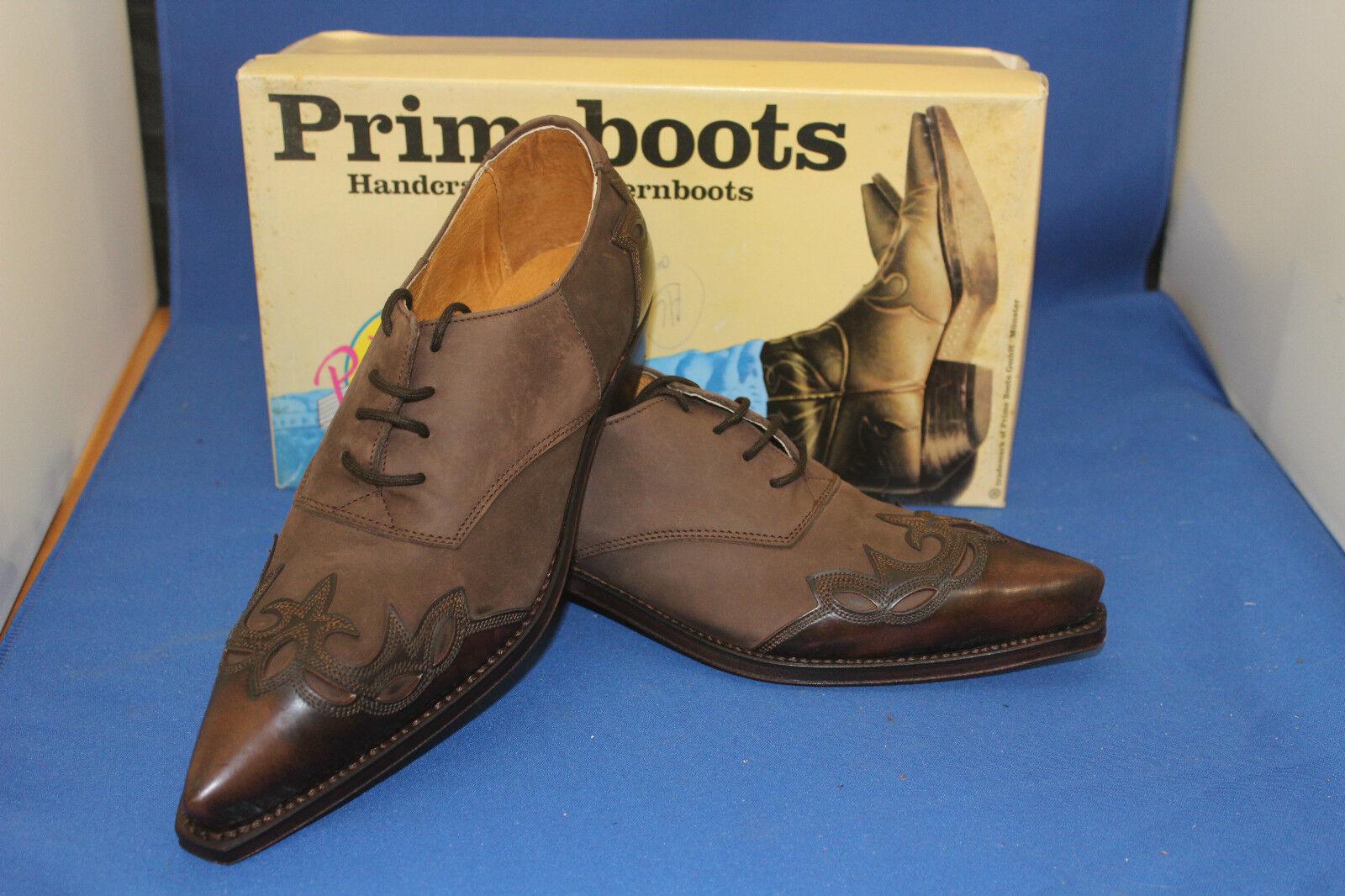 Prime boots westernstiefel halbschuh cowboyboots schnürrschuh brown  neu  gr. 40