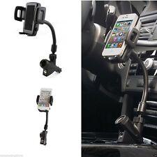 New Brand Car Mount Phone Holder Usb 2 Port Charger Cigarette Lighter For Gps