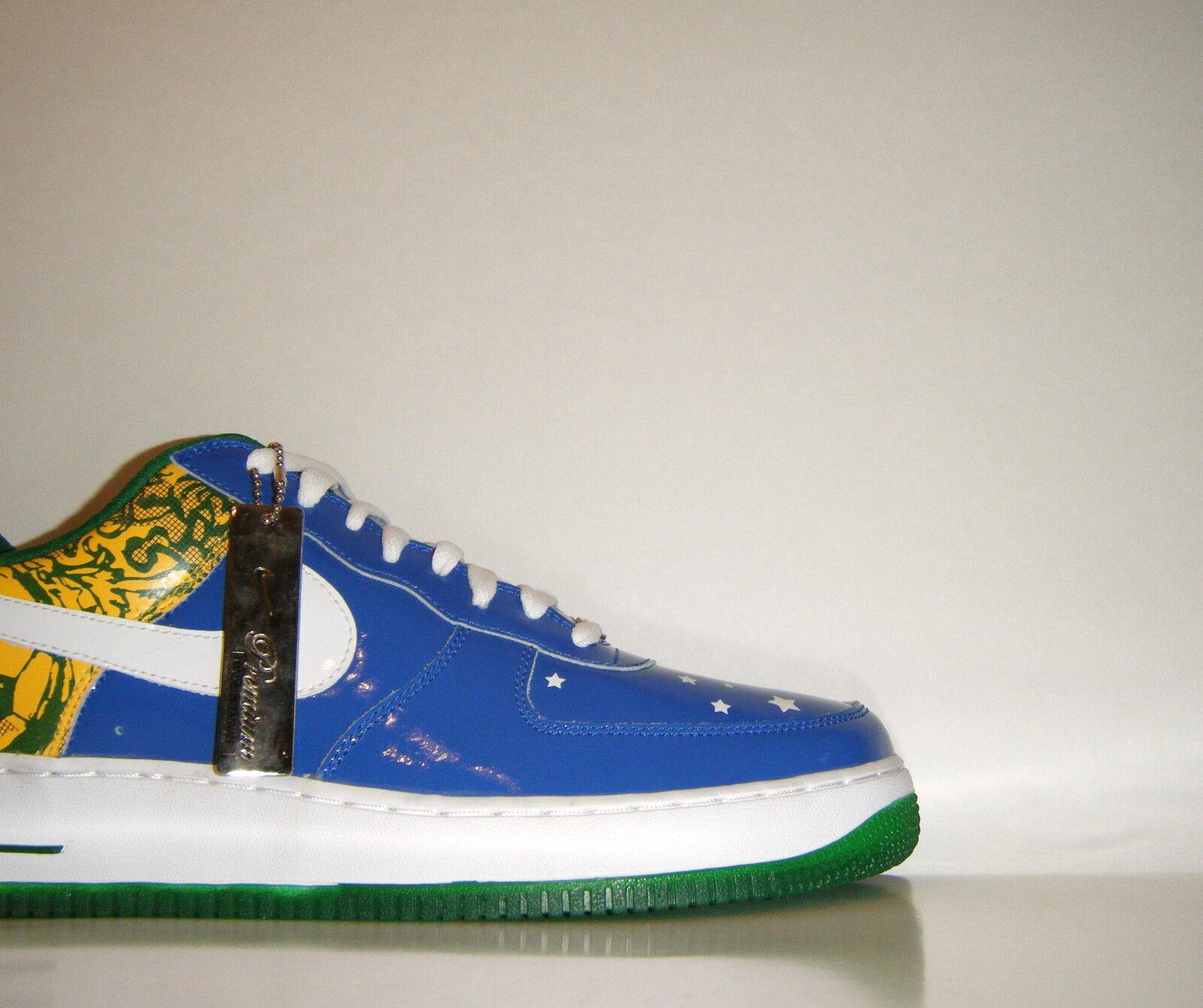2006 Nike Premium Air Force 1 Low Premium Nike Ronaldinho Brazil QS 12 World Cup Rio Olympics 07143d