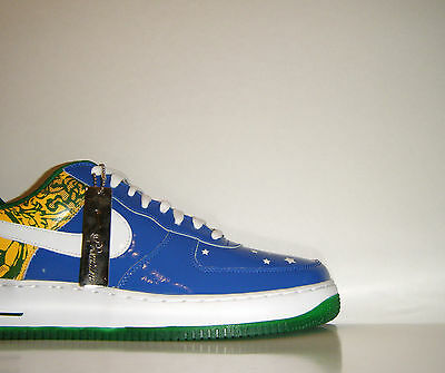 2006 Nike Air Force 1 Low Premium Ronaldinho Brésil QS coupe du monde 12 Rio Jeux Olympiques | eBay