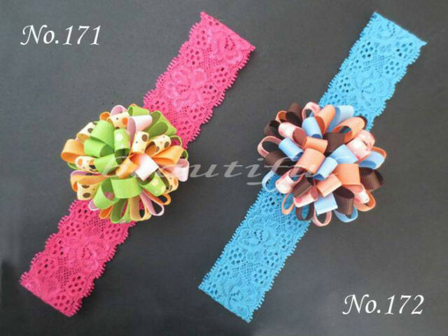 """30 BLESSING Boutique Good Girl A-Loopy Puffs Ribbon 2.5/"""" Hair Bow Clip 96 No."""