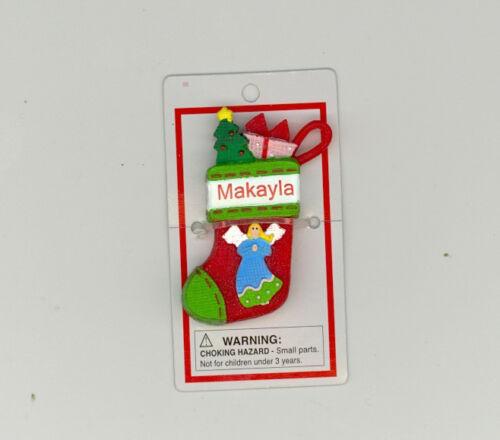 Itsy Bitsy Stocking Ornament ~ MAKAYLA ~ Angel ~ Stocking Stuffer ~ New ~