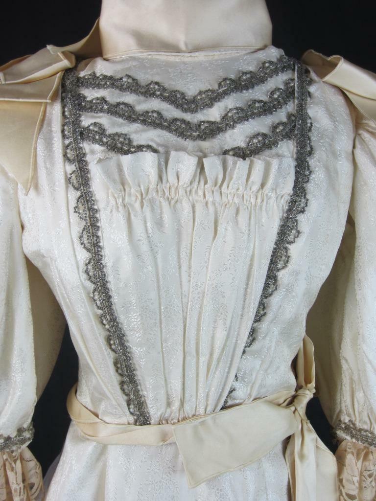 1895 Wedding Gown Victorian True Antique Dress - … - image 4