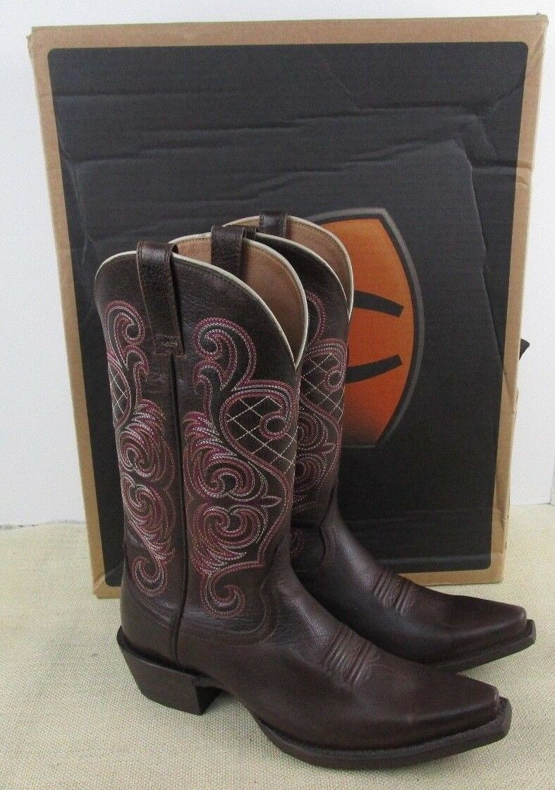 ARIAT 10011920 BRIGHT LIGHTS WOMEN'S BROWN LEATHER WETERN BOOTS NEW IN BOX