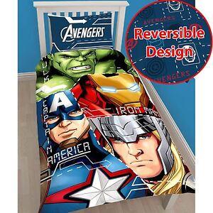Marvel-Avengers-TECH-Set-copripiumino-singolo-Biancheria-da-letto-HULK-THOR